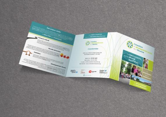 Consortium en Développement Social de la Mauricie | Dépliants 3 volets