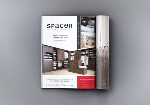 Spacer, storage / rangement | Publicité magazine