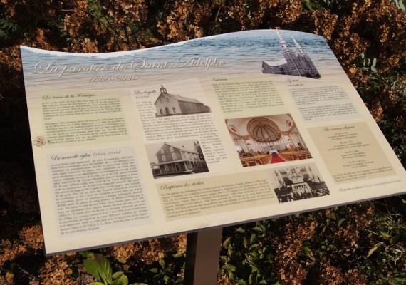 Municipalité de St-Adelphe | Panneaux historiques