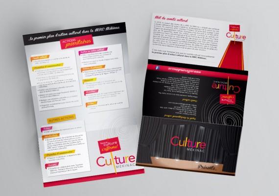 Culture Mékinac | Dépliant plan d'actions