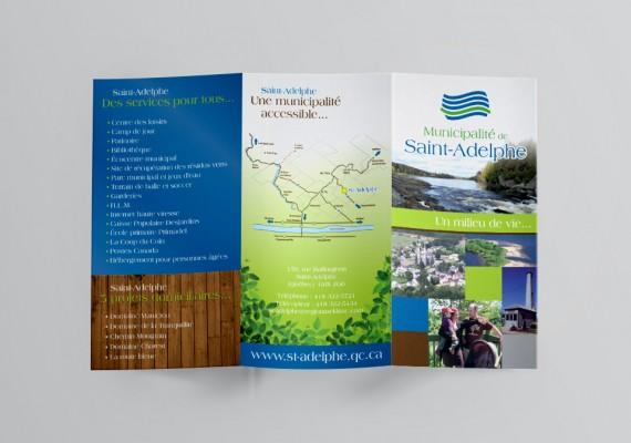 Municipalité de Saint-Adelphe | Dépliant promotionnel
