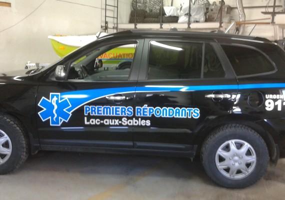 Premiers Répondants Lac-aux-Sables  |  Lettrage